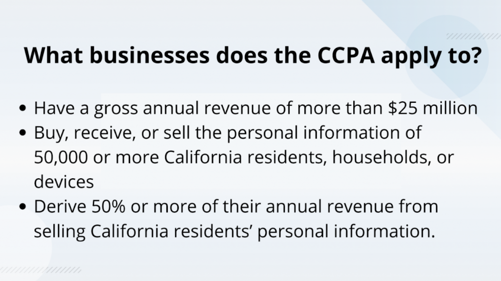 What to know about CCPA
